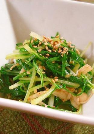 水菜とえのき茸のナムル