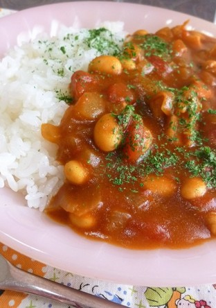 チキンと大豆のトマトカレー 簡単
