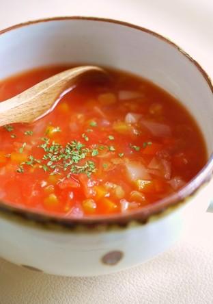 ほっこり レンズ豆と野菜のトマトスープ