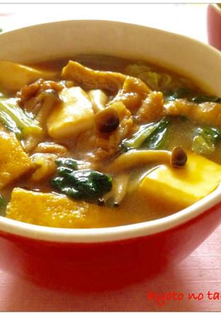 温かい生姜入り京風カレースープ