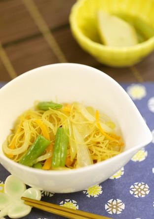 ビーフンと野菜の中華風ソテー