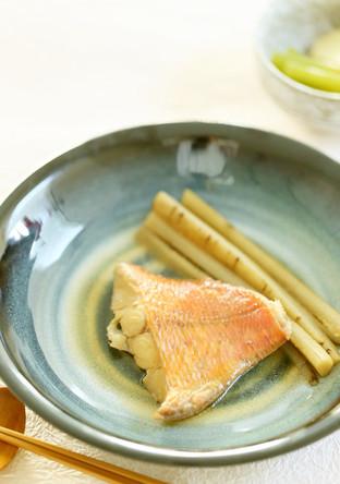 金目鯛の煮付け ごぼう添え