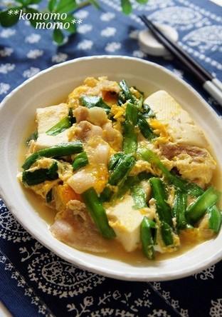 スタミナ満点 ニラ玉 肉豆腐