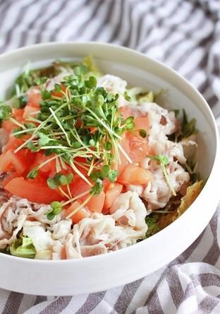 牛肉とトマトの柚子ぽん酢サラダ