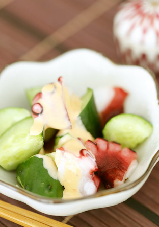 たこと胡瓜のお手軽サラダ