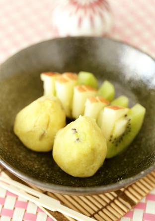 さつまいもとフルーツで作る簡単きんとん♬