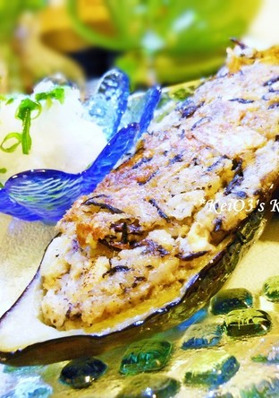 豆腐とひじき 切干大根のなすカップ焼き