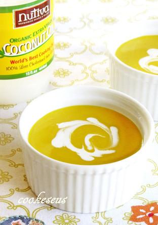 ココナッツオイルで作るパンプキンスープ