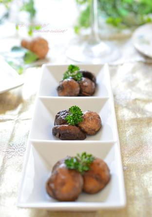 マッシュルームと椎茸のアンチョビオイル炒