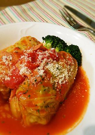 トマト缶でロールキャベツ
