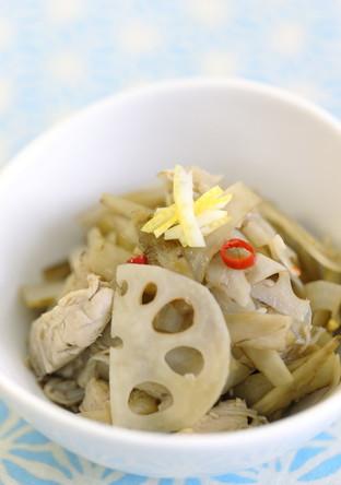 柚子香る❦鶏肉入り根菜のきんぴら