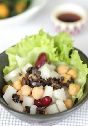 お豆と大根のコロコロサラダ