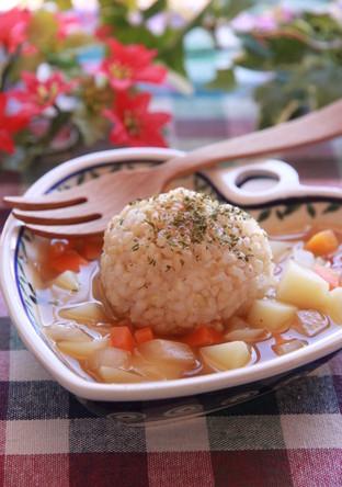 余りご飯で食べるスープ