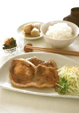豚肉のめんつゆ生姜焼き
