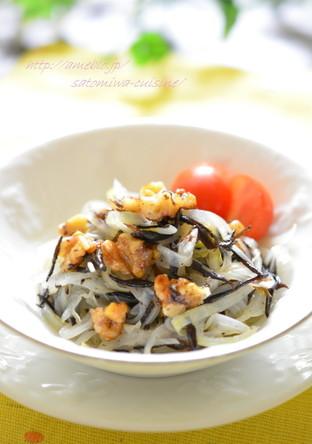 胡桃ドレで ひじきと玉ねぎの健康サラダ