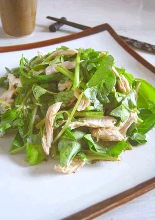 クレソンと鶏肉のレモン醤油サラダ