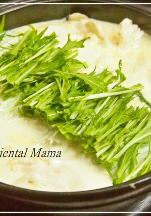 シンプル 生姜香る白だし味な豆乳豆腐鍋
