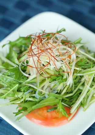 こんにゃくとお野菜のピリ辛酢和え