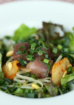 マグロと大豆もやしの韓国風サラダ
