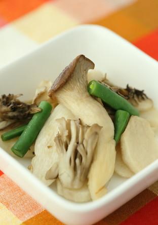 焼き長芋とキノコのさっと煮