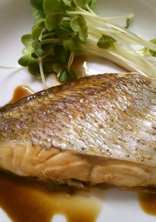 フライパンで簡単 真鯛のポン酢焼き