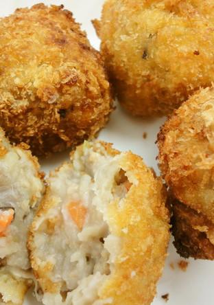 里芋でおもてなし 里芋の和風コロッケ