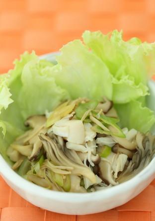 きのことホタテのゴマ風味サラダ