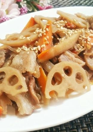 根菜と豚肉 しらたきのきんぴら