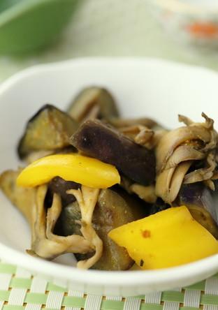 茄子とパプリカのカレー風味ソテー