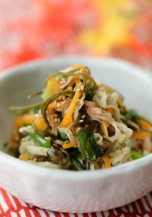 切干とツナ缶・お野菜の和え物