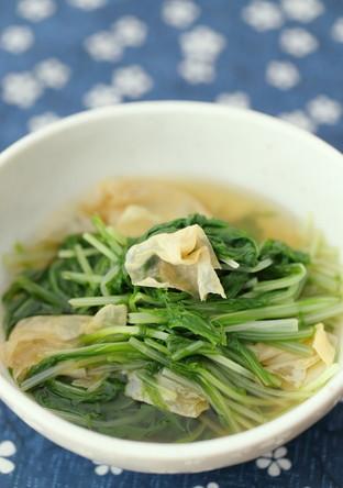 水菜とゆばのさっと煮
