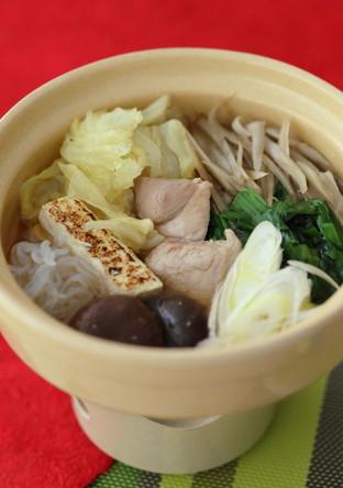 ごぼうたっぷり豚肉赤味噌鍋