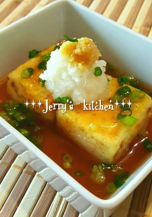 簡単 揚げないヘルシー揚げ出し豆腐