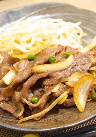 牛肉と玉ねぎのすき焼き風炒め