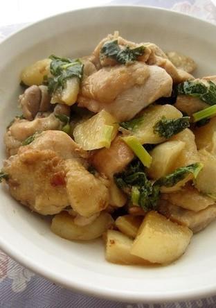 鶏肉とかぶの炒め煮