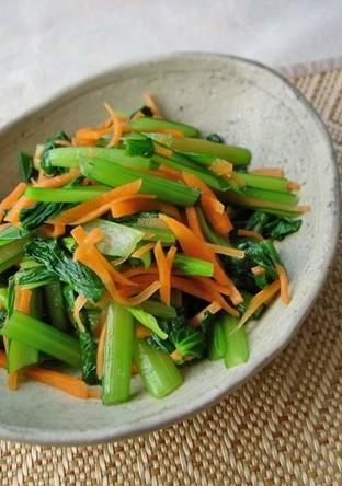 だし香る 小松菜の浅漬け風サラダ