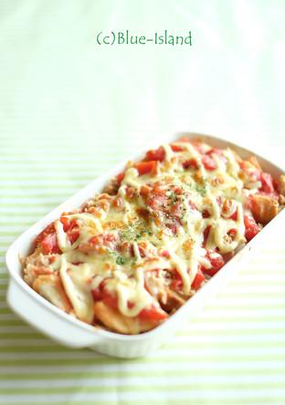 ツナトマト トーストグラタン