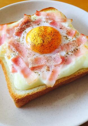簡単とろーり カルボナーラトースト