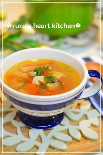 簡単トマトスープ 中華風