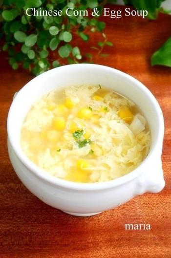 中華風ふわふわ卵のコーンスープ
