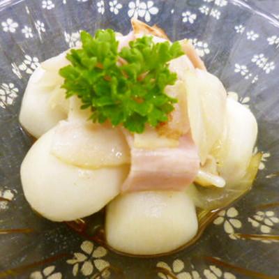 里芋でポテト・リヨネーズ☆