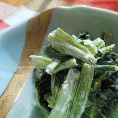 小松菜の山葵マヨネーズ和え