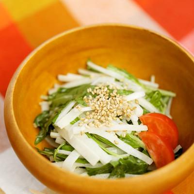 大根と水菜のゴママヨサラダ