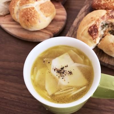 蕪のコンソメスープ
