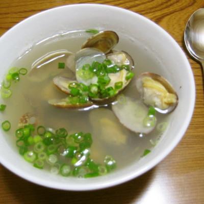 韓国風あさりスープ