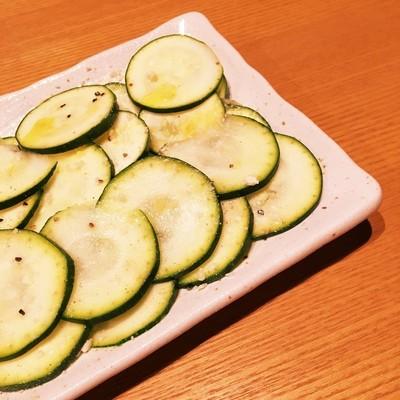 ズッキーニの簡単カルパッチョ風サラダ