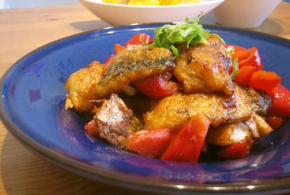簡単美味しい 鯖とパプリカの爽やか炒め