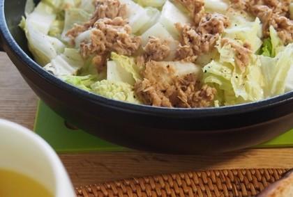 レンジで簡単!!白菜とシーチキンの蒸し煮