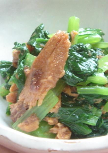 小松菜のマグロフレーク和え