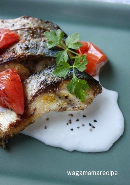 鯖のカレー粉マヨネーズ焼き